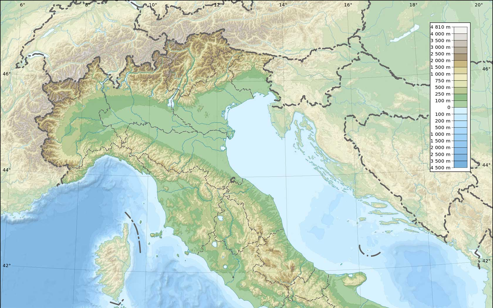 Immagini Cartina Muta Italia.Mappa Italia Fisica Muta Le Puntine Del Mondo