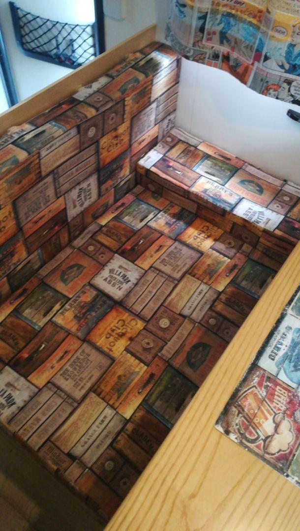 Cuscini dinette del camper stile vintage patchwork