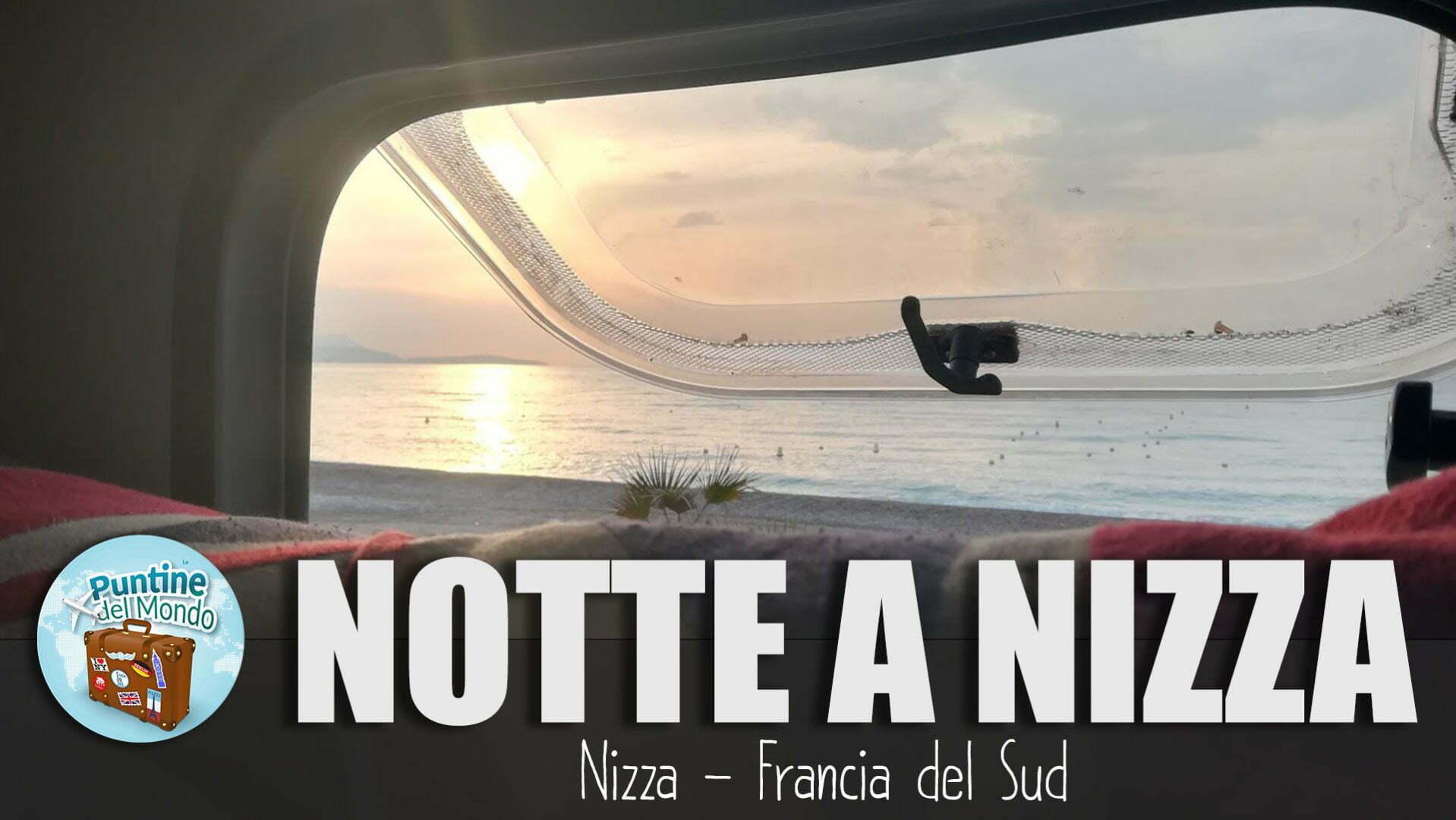 Dormire con il camper in riva al mare a Nizza in Francia