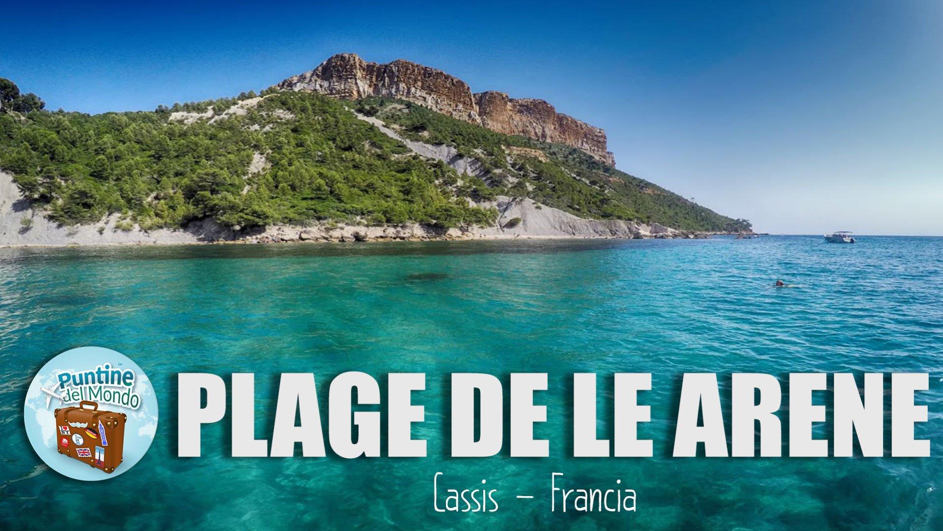 Plage de l'Arene Cassis Francia Marsiglia Spiaggia Costa Azzurra