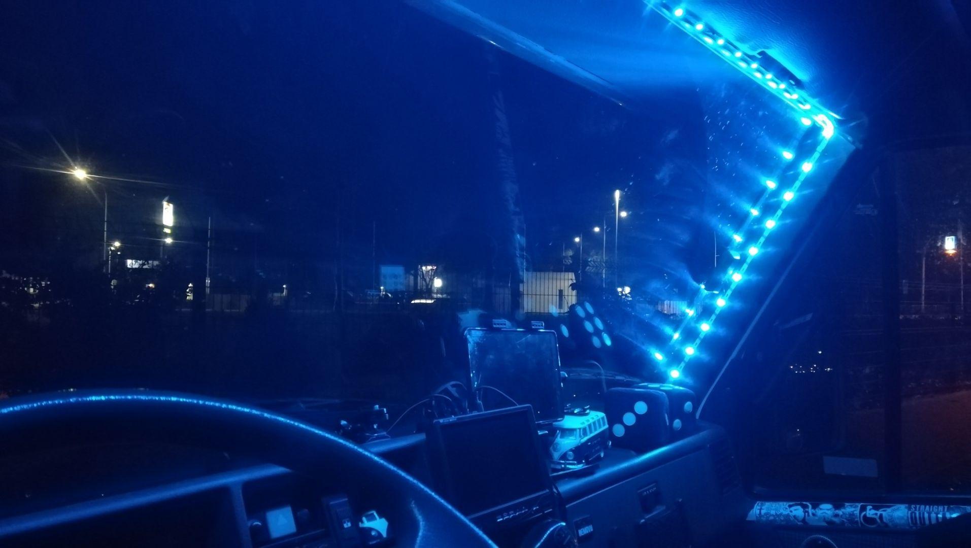 Camper con luci a led da prostituta
