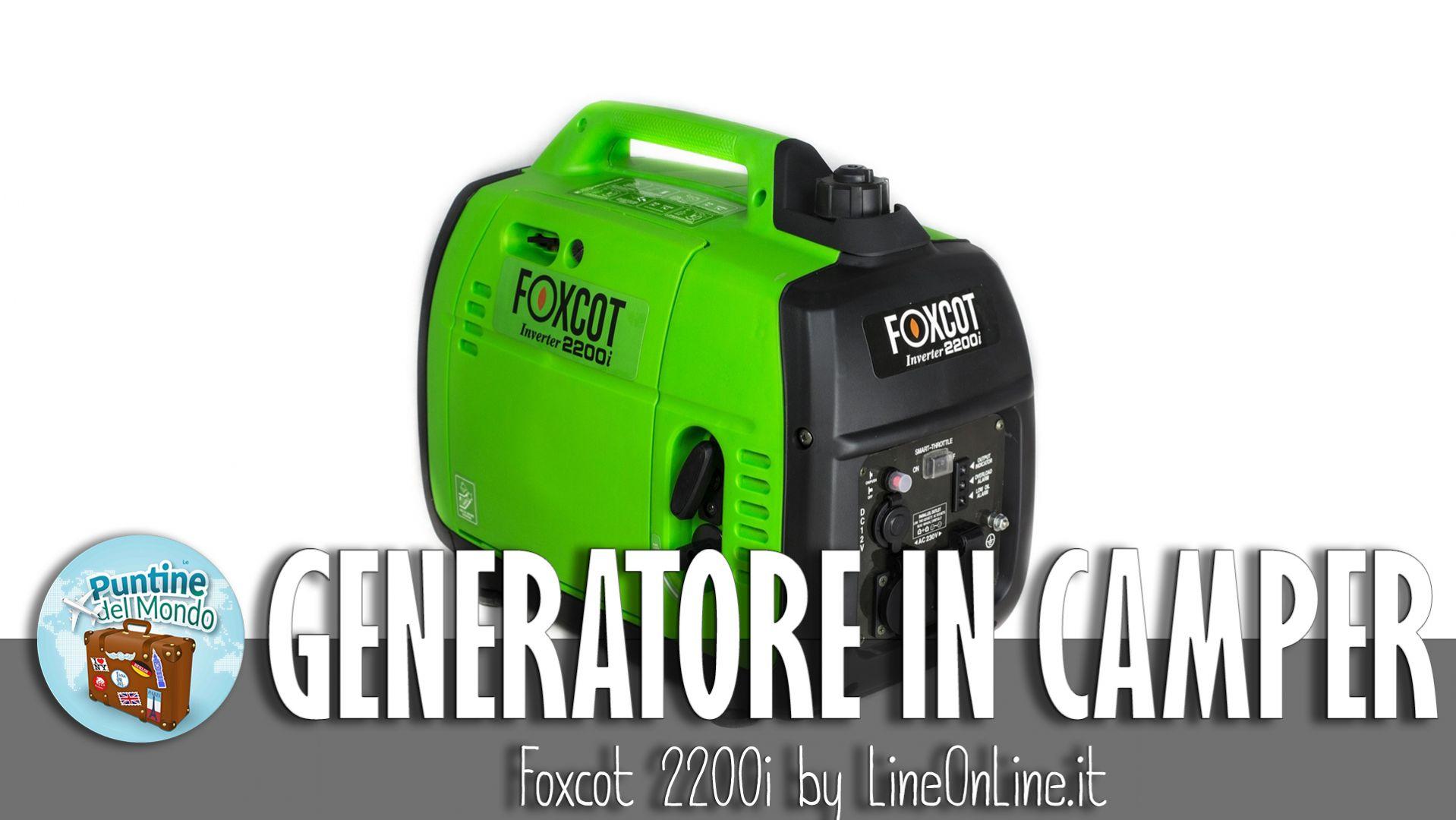 Generatore silenzioso portatile 2.2kw per camper by Lineonline