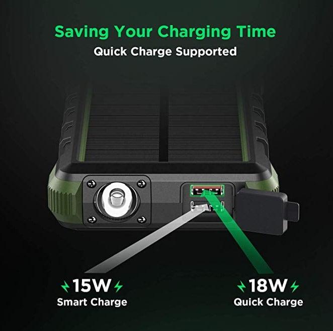 recensione prova test Powerbank con pannello solare da 20.000 mAh EasyAcc PB4000TP