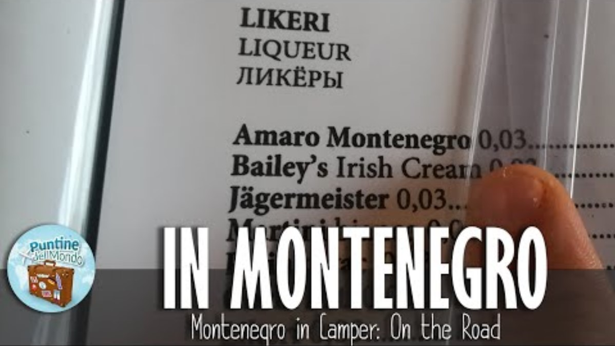 Montenegro in Camper copertina menu amaro Le Puntine del Mondo
